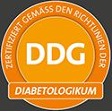 DDG: Zertifiziert gemäß den Richtlinien der DIABETOLOGIKUM